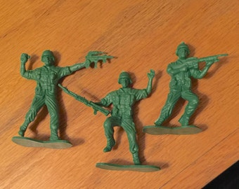 3- 1950s Lido 3 Inch Army Men USA Made