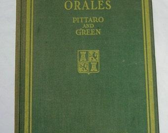 Vintage Spanish Language Hardbound Book - Lecciones Orales by John M. Pittaaro & Alexander Green (Oral SpanishTextbook)