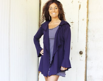 Everday Organic Hooded Wrap Cardigan - Made to Order - Choose Your Color