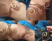 Open Spiral bangle - adjustable