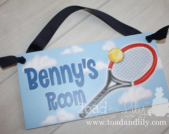 Tennis Boys Girls - Colours Can be Changed Bedroom Home Office Playroom DOOR SIGN Wall Art DS0277