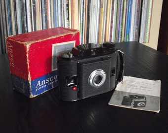 Vintage 1950's Ansco PD-16 Clipper Camera with Box & Instructions