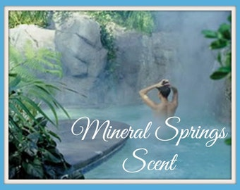 MINERAL SPRINGS Scented Soy Wax Melts - Soy Candle Tarts - Ozone - Floral - Relaxing - Refreshing - Highly Scented - Hand Poured In USA