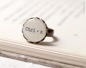 Ctrl+z geek ring - Keyboard gift - Geeky gift - Geek gift - Nerd ring - Geekery ring - Geeky ring - Tech jewelry - Computer geek (R003)