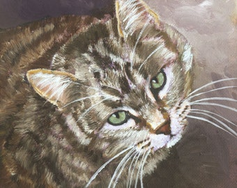 Brown Tabby Titled Watching You by Mary Jo Zorad Artist