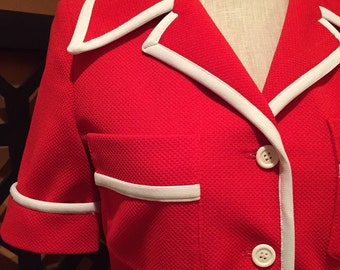 Vintage Red ACT III Top Jacket Coat
