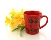 Funny mug , mug for her , Mom Mug,  Funny Gift, I Do Everything, Red, large 16 oz mug , SALE