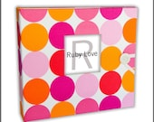 MOD Pink and Orange Dot Album | Baby Memory Book