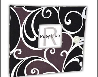 BABY BOOK | Black Swirls Baby Book | Ruby Love Modern Baby Memory Book