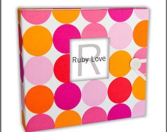 MOD Pink and Orange Dot Album | Baby Memory Book