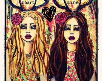 I carry your heart fine art print by Lisa Ferrante