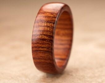 Custom Mopani Wood Ring - 7mm