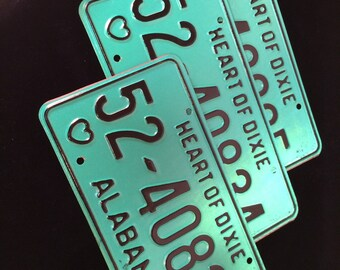 Alabama Heart of Dixie License Plate Vintage Garage Mancave Kids Room