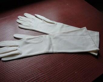 vintage long white gloves