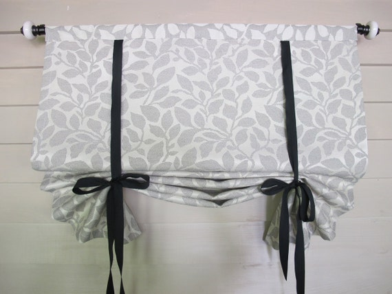 Tie Up Shade 36 Inch Long Stage Coach Tie Up Curtain Blind Black and ...