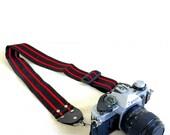 Vintage Red & Black Camera Strap