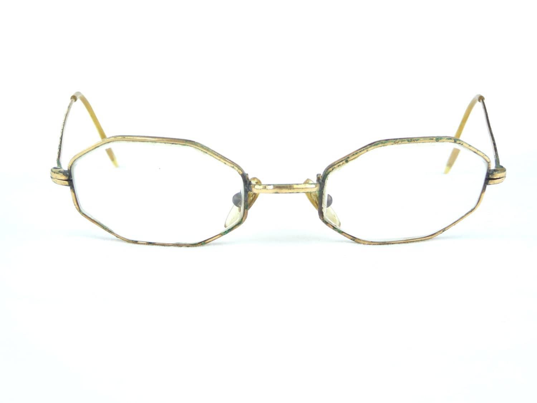 All Gold Glasses Frames : vintage eyeglasses 14KGF gold metal frames vintage eyewear