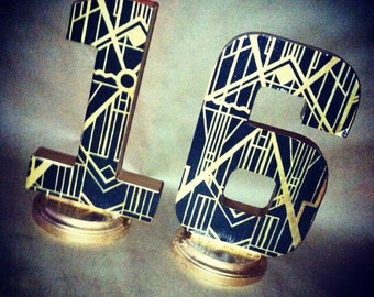 """8"""" Art deco Gatsby Inspired letter for weddings, parties, decor, parties, and events!"""
