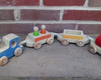 Wooden Freight Train Toy