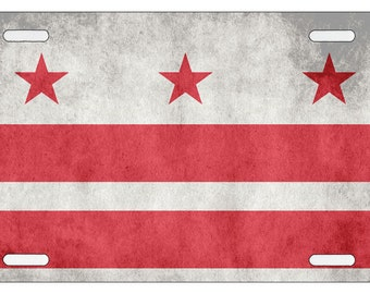 District of Columbia Flag License Plate