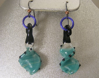 Boro Lampwork Glass Earrings  (ES17)