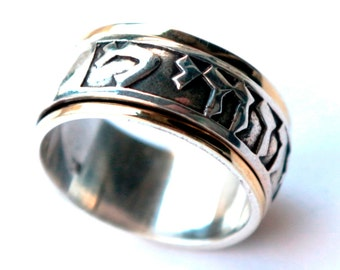 Personalize Ring message Hebrew love verse ring Prayer rings Bague tube argent or Ani le Dodi