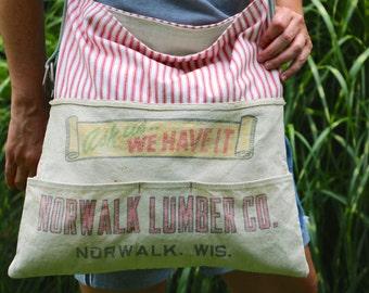 Lumber Store Apron Handmade Bag Norwalk Lumber Company