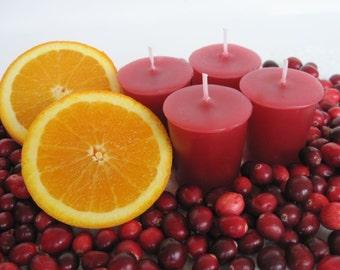 CRANBERRY CITRUS (4 votives or 4oz soy jar candle)