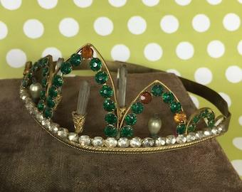 Tiara- Vintage with stones