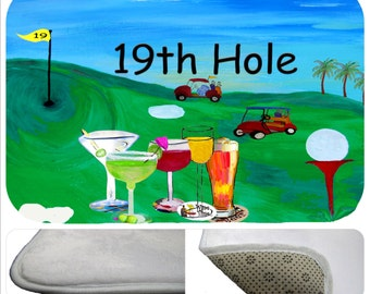 Golf 19th Hole Metal Art Golfer Bar Drinking Fore
