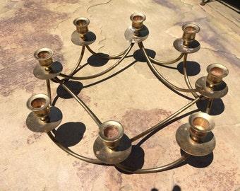 Vintage Indian Brass Candleholder