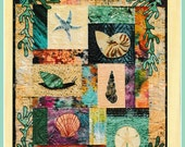 Seashells Fusible Applique Wall Quilt Pattern