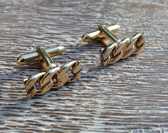 Vintage Cuff Links Swank Gold Chain