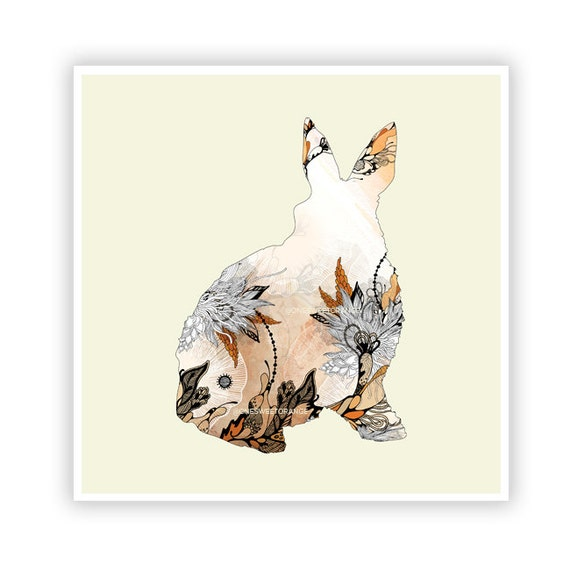 Little Rabbit by Iveta Abolina -  Floral Illustration Print