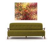 Red Green Yellow Abstract Painting Print, instant digital download reproduction, Modern Home Decor, Into the Woods by Jessica Torrant