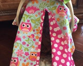MOD Baby Carseat Cover - Pretty Owl Print Cover with Hot Pink Dots  -  Bows INCL  - All Cotton - Baby Girl