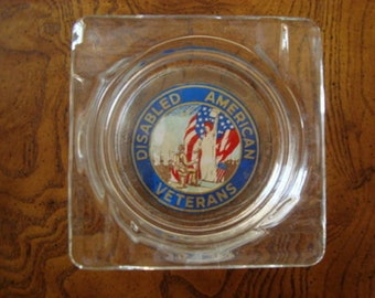 Vintage Disabled American Veterans Logo Ashtray