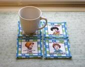 sassy woman set of mug rugs