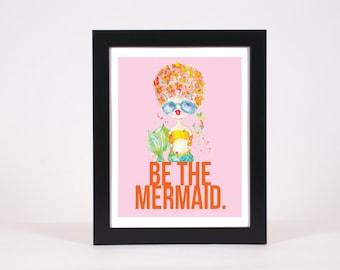 pink lemonade -- be the mermaid - an 8xl0 print