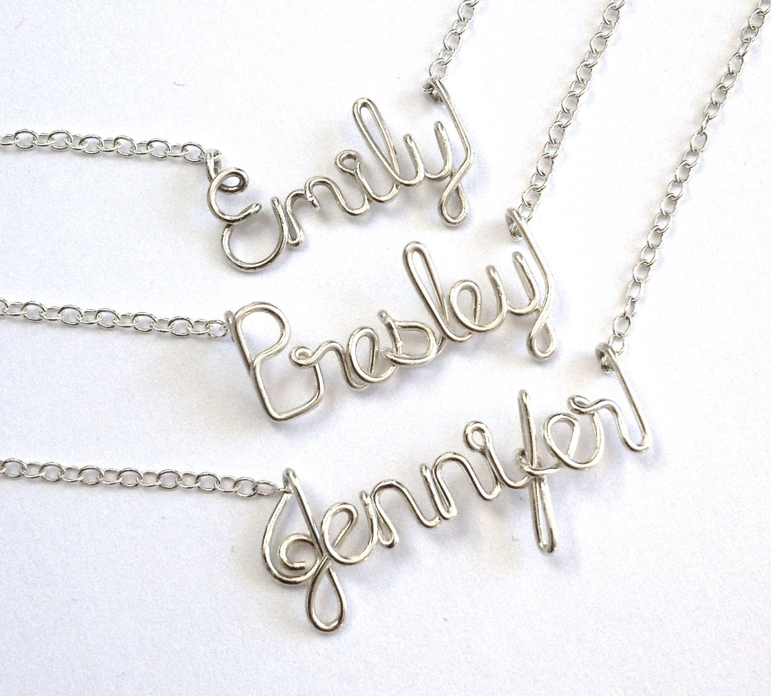 child name necklace sterling silver name necklace