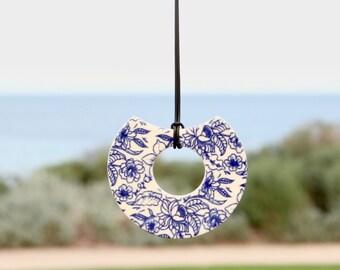 Ceramic statement necklace - ceramic jewelry, gift for her, ceramic pendant, statement jewelry