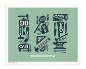 Do What You Can, Blue Moss, Illustrated Art Print