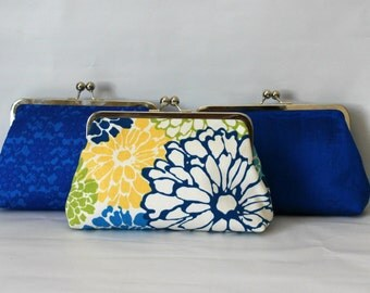 Wedding Clutches - Bridesmaids Clutches - Wedding Gifts - Bridesmaid Gifts - Blue Wedding Clutches - Bridal Clutches Sets of 3 or 6