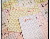 Ikat or Clover Pattern Notepads Personalized - Set of 2 - You choose color & background!