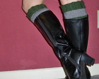 Boot Cuffs in Slytherin Colors