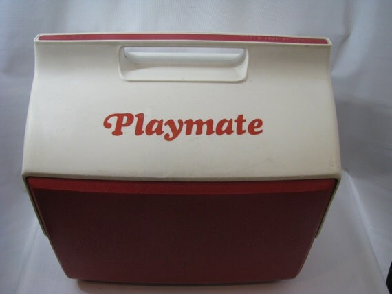 Vintage igloo red white playmate ice cooler chest camping 15 - Igloo vintage ...