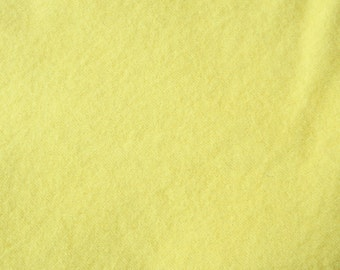Light Yellow Hand Dyed Felted Wool Fabric - Hand Dyed - - 100% Wool