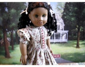 "American Girl Doll 18"" 1850s Historical Dress, American Girl Doll Day Dress, 1850s Collectors Doll Dress"
