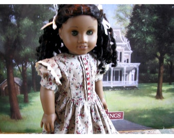 Eighteen 18 Inch 1850s Historical Doll Dress, 1850s Collectors Doll Dress by Bon Jean Creations