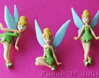 TINKERBELL Fairy Fantasy Peter Pan Children Disney Dress It Up Craft Buttons
